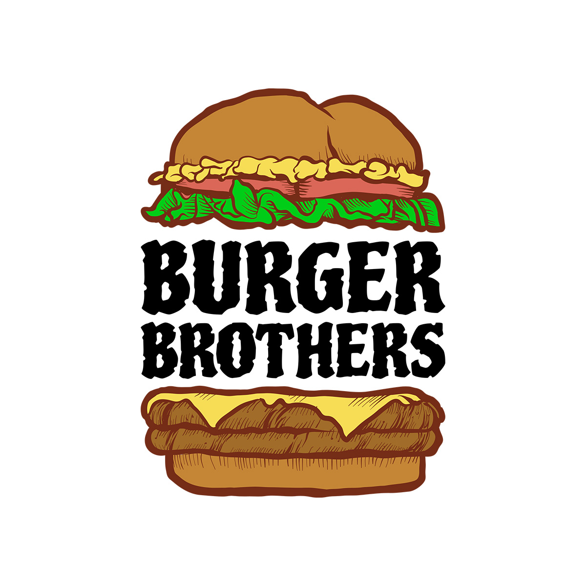 Burger Brothers Logo Design