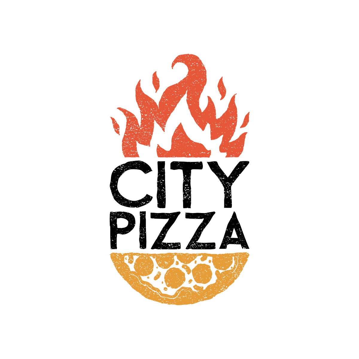 City Pizza Logo Design